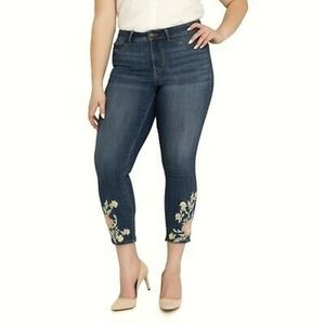 High rise ankle Floral jeggings